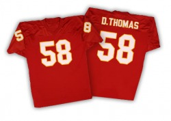Mitchell and Ness Derrick Thomas Kansas City Chiefs Men's Authentic Red Mitchell And Ness Throwback Jersey