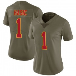 Nike Anas Hasic Kansas City Chiefs Women's Limited Green 2017 Salute to Service Jersey