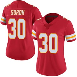 Nike Andrew Soroh Kansas City Chiefs Women's Limited Red Team Color Vapor Untouchable Jersey