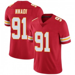 Nike Derrick Nnadi Kansas City Chiefs Youth Limited Red Team Color Vapor Untouchable Jersey