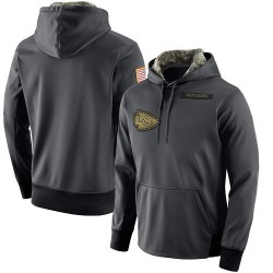 Nike Kansas City Chiefs Men's Anthracite Salute to Service Player Performance Hoodie