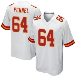 Nike Mike Pennel Kansas City Chiefs Men's Game White Jersey