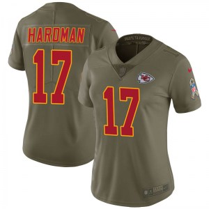 Nike Mecole Hardman Kansas City Chiefs Women's Limited Green 2017 Salute to Service Jersey