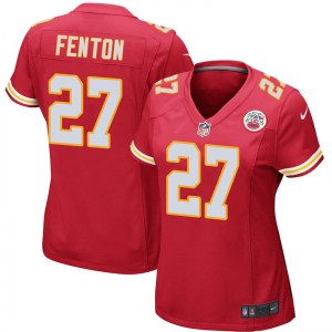 Nike Rashad Fenton Kansas City Chiefs Women's Game Red Team Color Jersey