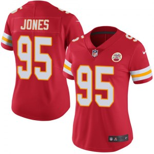 Nike Chris Jones Kansas City Chiefs Women's Limited Red Team Color Jersey